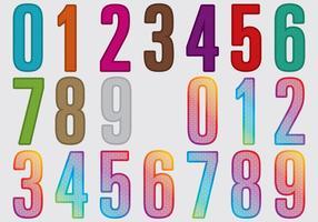 Numéros de découpe au laser vecteur