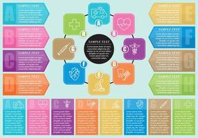 Infographie médicale vecteur