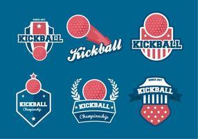 Badges vectoriels Kickball vecteur