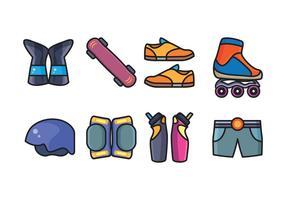 Pack gratuit d'icônes de skate vecteur