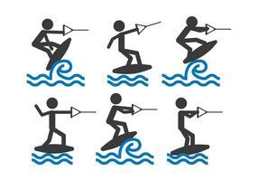 Vecteur Wakeboarding