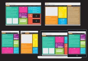 Web adaptatif coloré vecteur