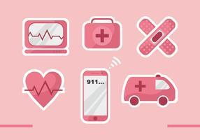 Icônes vectorielles en mode CPR vecteur