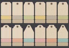 Vêtements d'étiquettes en papier vecteur