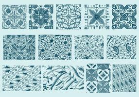 Textures de toile bleue vecteur