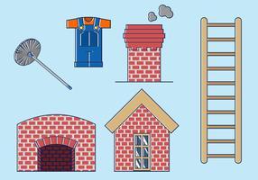 Vecteur libre de balayage de cheminée