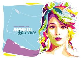 Jennifer Lawrence - à Popart Portrait vecteur