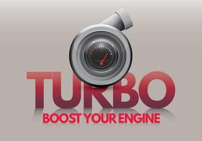 Turbocompresseur augmente votre moteur vecteur