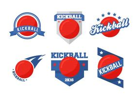 Badges vectoriels Kickball vecteur