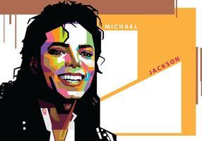 Michael Jackson à Popart Portrait vecteur