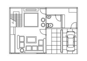Vector de plan d'étage