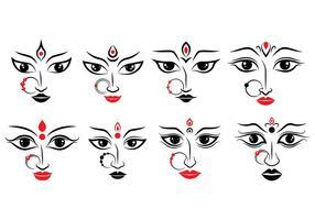 Icônes Durga vecteur
