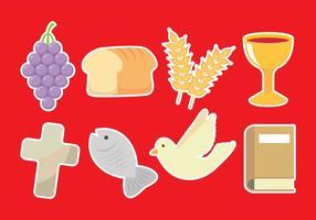 Icônes de communion vecteur