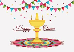 Happy onam vecteur