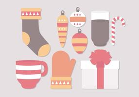 Objets d'hiver de Noël vectoriel