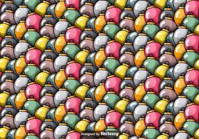Vector seamless pattern of Christmas Spheres