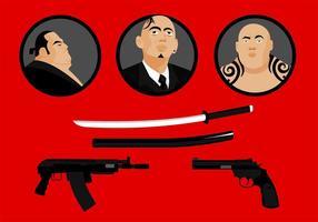 Yakuza vecteur gratuit