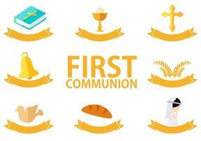 Vecteur gratuit de la première communion