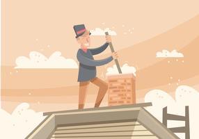 Illustration de vecteur de balayage de cheminée