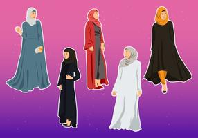 Illustration Vecteur D'Abaya
