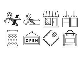 Vector d'icônes gratuit d'ouverture de magasin