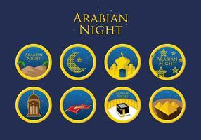 Vecteur de nuit arabe gratuit