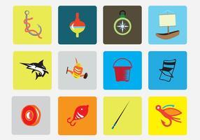 Pack d'icônes vectorielles de pêche