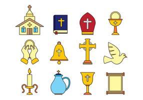 Ensemble d'icônes de Comunion vecteur