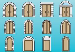 Portes mignonnes et portails vecteur