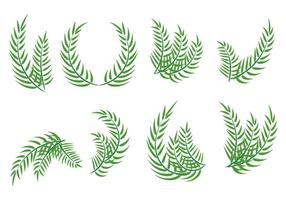Vecteurs de feuilles du dimanche des Rameaux vecteur