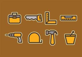 Vecteurs d'outils de construction