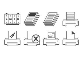 Vecteur d'icône d'imprimante gratuit
