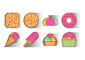 Vector d'icônes de dessert gratuit