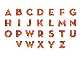 Vecteur libre d'alphabets de tigre