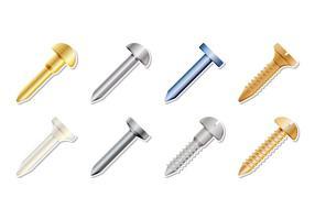 Vecteur icône d'ongle métallique gratuit
