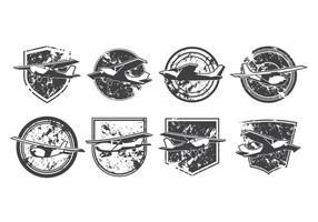 Vecteur logo gratuit de l'avion léger