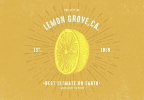 Rétro design de citron vecteur
