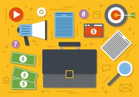 Free Digital Marketing Business Illustration Vectorisée