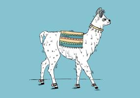 Fond de Llama gratuit vecteur