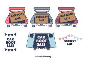 Vente de bottes de voiture vecteur