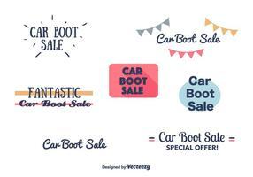 Bannières de vente de bottes de voiture vecteur