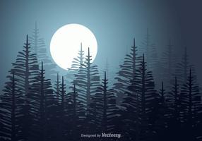 Paysage vectoriel libre de forêt d'araucaria