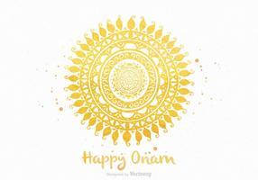 Carte de voeux gratuite Happy Onam Vector