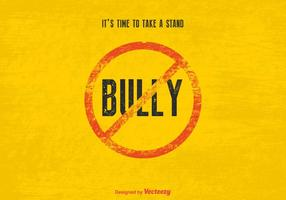 Vecteur gratuit stop bully sign