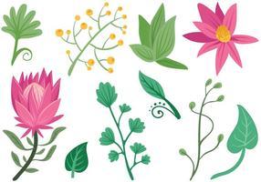 Vecteurs de fleurs simples gratuits vecteur
