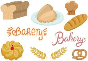 Vecteurs de boulangerie gratuits vecteur