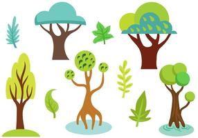 Vecteurs d'arbres libres vecteur