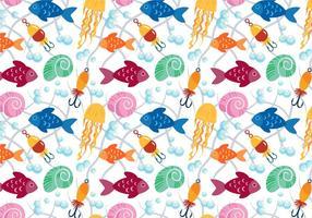 Vecteurs de motif de poisson gratuits vecteur