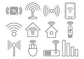 Vecteur d'icône de signal gratuit