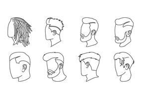 Vector d'icônes de coiffure masculine gratuite